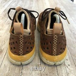 2009 Nike Air Rejuven8 Mens Size 9 Tooled Brown Leather Sample Vented Sneakers