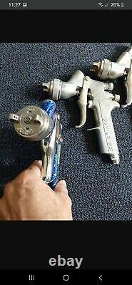 3 Devilbiss spray guns. GTI Plus1.3 1 GTI 1.8, 1 GTI 1.5