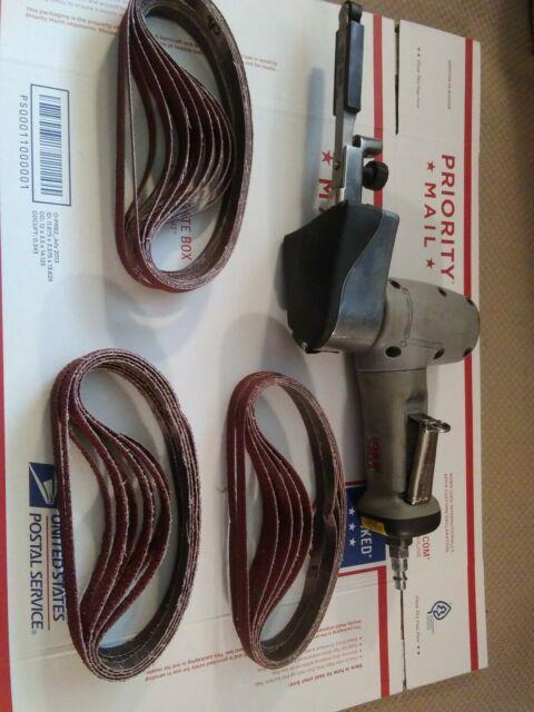 3m 28366 Air Powered Belt Sander With Belts 1/2 X 18
