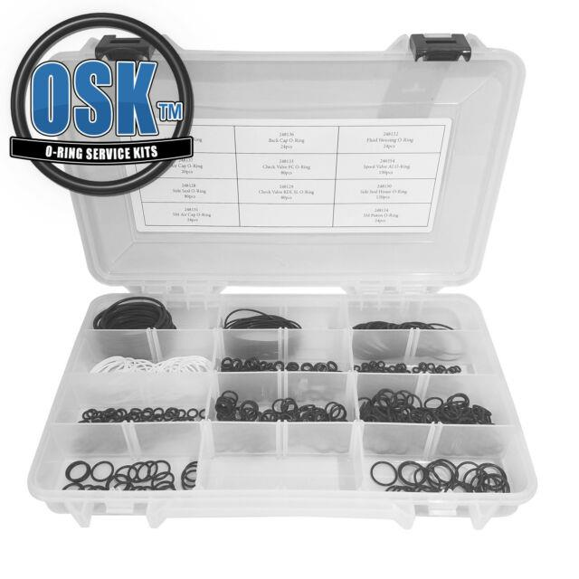 600pc Commercial Grade Osk 246355 O-ring Kit For Use With Graco Fusion Ap