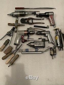 Aircraft Tool Lot 90 Drill Rivet Gun 2x 2 Rockwell Drills And Lots More