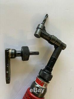 Aircraft tools Jiffy 360 Degree Drill Motor 1/4-28 Threaded Head & 1/4-28Pancake