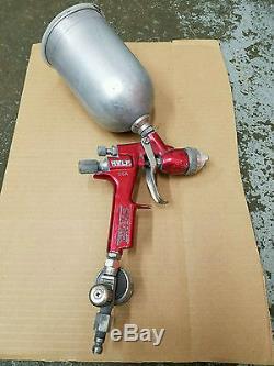 Binks M1-G HVLP Auto Body Paint Gravity Feed Spray Gun Aluminum Cup Regulator