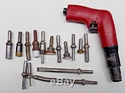 Chicago Pneumatic Desoutter Recoilless 4X Rivet Gun with Rivet Sets CP4450-4