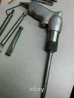 Crack repair kit with taps chisels, Versnick plugs pneumatic air peening gun