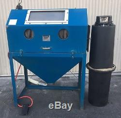 Cyclone MDL-4224 Full Top-Opening Blast Cabinet Value Package with Dust Collector