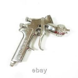 DeVILBISS GTi Millenium HVLP Gravity Feed Spray Gun Silver Body, 2000 Air Cap
