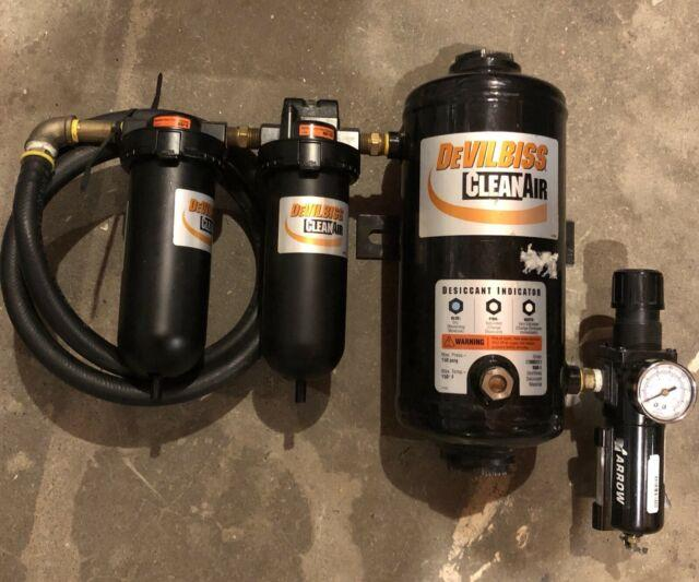 Devilbiss Cleanair 3-stage Desiccant Air Dryer System (used) Free Ship