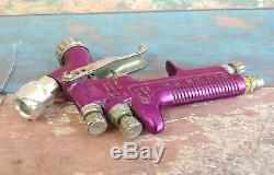 Devilbiss SRI Pro 635G 10 Spot Repair Paint Spray Gun Bundle Purple P1-P12 Bar