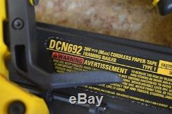 Dewalt DCN692 20v Cordless Paper-Tape Framing Nailer Pre-owned Free Shipping