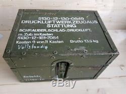 Druckluft Schlagschrauber Set Pro Compact-Line Atlas Copco Belzer Bundeswehr SR1