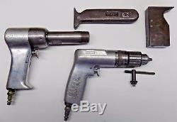 Genuine US Industrial 4X Rivet Gun & Cleco Drill Set Aircraft Tools