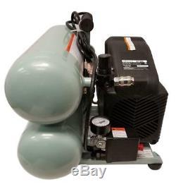 Hitachi 4 Gallon Portable Electric Twin Stack Air Compressor 135PSI Max
