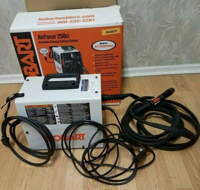 Hobart Airforce 250ci Plasma Cutter Portable Tool With Built In Air Compressor