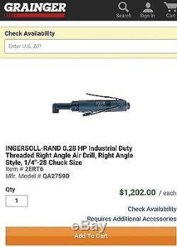 Ingersoll rand angle drill 2700rpm QA2759D. Retail $1200 (dotco, sioux, aro)