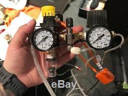 Lindsay Classic Air Graver, gravers, templates, air regulator, vise, foot pedal