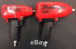 (Lot Of 2) Snap-on Pneumatic Impact Wrenches with protective covers