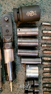 Lot Of 37 Tools 2 Mac Tools Air Side Impact Ratchets 17 HS Bits 14 Impact Socket