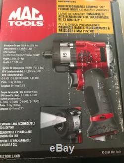 Mac Tools 1/2 impact BNIB never used with removable led headlights Air Impact 70