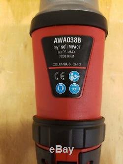 Mac Tools 3/8 Drive 90° Air Impact Wrench Awa038b