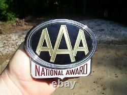 Original 1950s AAA auto vintage scta GM Ford Chevy license plate topper gmc part