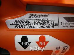 PASLODE IM250A Li CORDLESS 16GA ANGLED FINISH NAILER 902400 LITHIUM ION BATTERY
