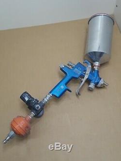 RARE! Sata LM2000 RP Spray Gun 2.0 Spray Tip Reduced Pressure Spraygun withHopper