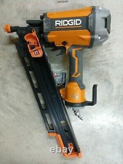 RIDGID 21 Degree 3 1/2 Round Head Framing Nailer Model# R350RHF