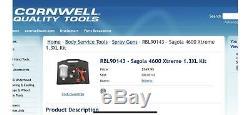 SAGOLA 4600 Xtreme Digital 1.30XL Baffle Free Technology Spray Gun Paint