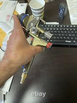 SATA X5500 RP Spray Gun, 1.2I, With RPS Cups Pps Adapter & Adam 2 Dock LIKE NEW