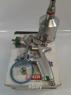 SATA minijet 4400 B RP 1.2 with RPS Disposable Cups HVLP Mini Detail Spray Gun EUC