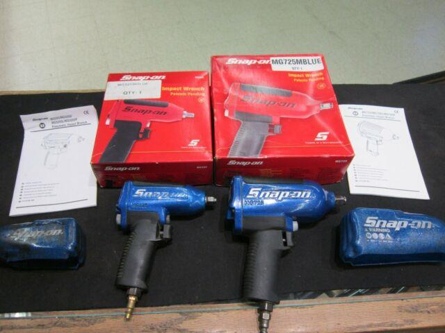 Snap-on Tools Super Duty Impact Air Wrench Mg725, Mg325 1/2 + 3/8 Drive, Lot