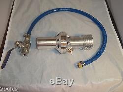 Sandblasting Water Induction Nozzle 3/8 Aluminum Abrasive Blast 9.5 MM Size 6