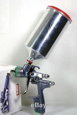 Sata Jet 100 BF HVLP 1.9 Nozzle Spray Gun with 1L QCC Aluminum Cup #683