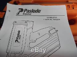 Slightly Used Paslode Impulse IMCT Cordless Utility Framing Nailer 900420