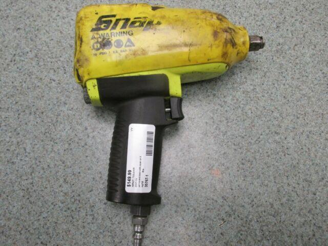 Snap-on Mg725 Pneumatic Air Impact Wrench 1/2 Drive Fluorescent Yellow