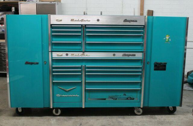 Snap-on Tool Box Teal 57' Chevy Bel Air With Side Extensions & Extras Krl761/791