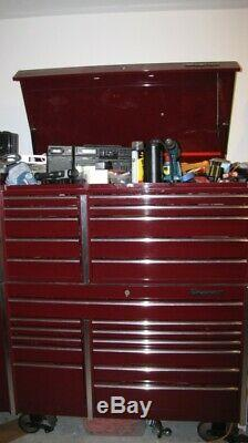 Snap On Toolbox FULL hand air tools Cranberry with side locker Matco Mac HUGE