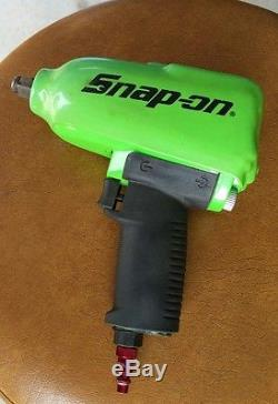 Snap On Tools 1/2 Drive Green Heavy Duty Air Impact Wrench MG725 Free Shipping