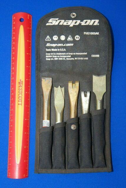 Snap-on Tools 5 Piece Air Hammer Cutter Chisel Breaker Ripper Set Phg1005ak
