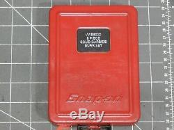 Snap On Tools 8Pc Solid Carbide Burr Set VWB800D Metal Box Air Grinder Metal Box