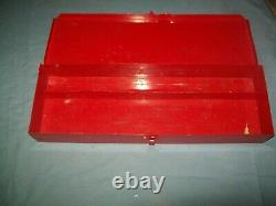 Snap-on Air Conditioning A/C Tool Kit in Metal Case Yoke Puller Jaws++ Vintage