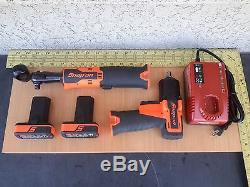 Snap-on Tools 14.4V Cordless 3/8 Impact Wrench CT761 & Ratchet Kit CTR761B