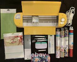 Sunflower Yellow Cricut Explore Air 2- Grip Mat, Sticker Paper, Iron Ons & Tools