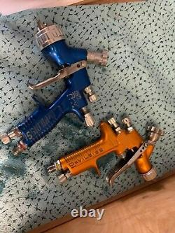 Two DeVilbiss Pro Lite Spray Guns Good Condition