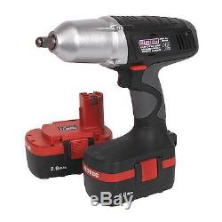 USED Sealey 1/2 Drive Cordless 19.2V Impact Wrench 2 Batteries & Charger