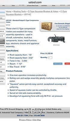 Us Tool C Type Squeezer Compression Riveter Us114c Rivet Gun