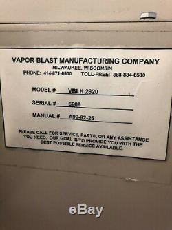 Vapor Blaster Mfg Blast cabinet polish clean finishing