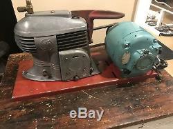 Vintage craftsman Art Deco Industrial Air Compressor Steam Punk Air Brush