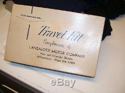 Vintage original 1960' s GM CHEVROLET Travel kit dealer promo box kit 1950s old